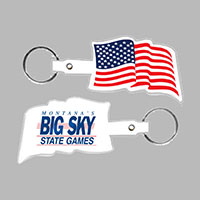 American Flag Key Tag
