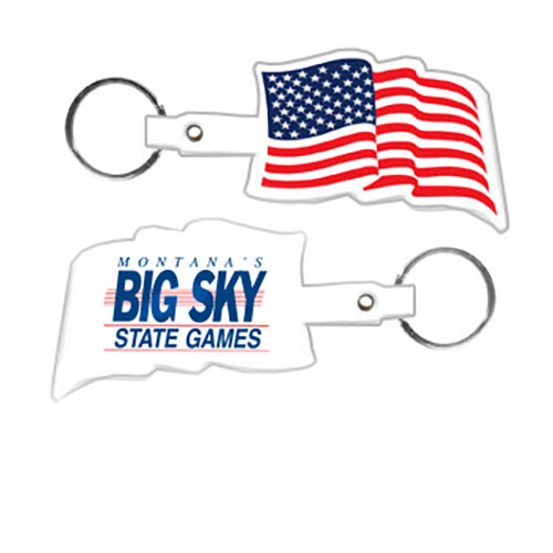 soft flexible keytag, made in USA
